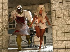 Reproachful carnal rams eradicate affect pussy of a hot nurse girl - Asylum dare  by 3D Aggregation