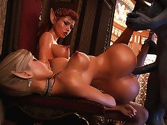 Devil of lust has enough cum in his huge cock - Elven desires 6  by 3D Heap