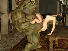Goblin lord bangs Snow White in all..