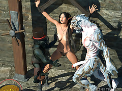 Lusty elf is violently fucked but she..