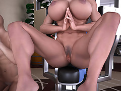 Two big-busted athletic sluts get banged enduring by a unsatisfactory ray