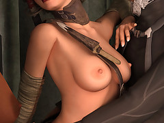 Roguish steampunk bitches enjoy sharing a massive meat rod