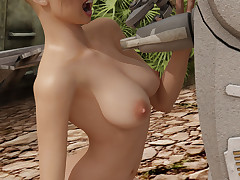 Busty sex bomb enjoys having her cunt pleasured by a kinky robot