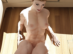Operative ladies spread their strong legs and show off their bodies