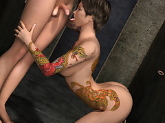 Foxy transsexual sluts love screwing each other unexceptionally hard