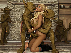 One entered my pussy, while the interexchange entered my ass - My secret kobold obsession by Casgra