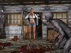 Your pussy it's complement - Hiker vs Zombies by Supafly 3d