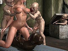These guys were bigger, praisefully bigger - Holly's Freaky Encounters / The attic of lust by Supafly 3d