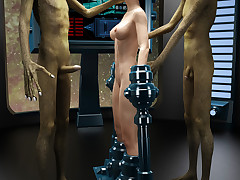 Alien Experiments. Lustful MILF was forcefully screwed like there's no tomorrow by filthy creatures