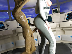 Space Journey. Lousy woman was forcefully shaged in a starship by a horny creature