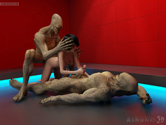 The Andromeda Strain. Horny mutants severely drill a sensual madame in on all sides of holes