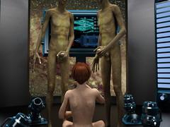 Alien Experiments. Lewd woman was..