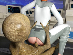 Space Journey. Slutty MILF was wildly drilled with huge dick by a dirty wean away from