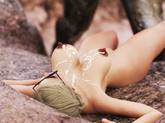 A beautiful busty young woman in peril - Excavation site amaze by FantasyErotic