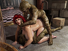Sexy redhead spreads her pussy and asshole - Miriam by Blackadder