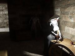 Dirty night lodger - The nun by Blackadder