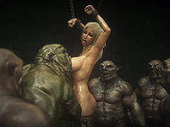 Unsightly dungeons with monsters cocks - Elf attendant 7 Double trouble by Jared999d
