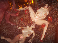 Lesbian forest elfs enjoying straight and lesbian sex - Elf slave 8 Along to final by Jared999d