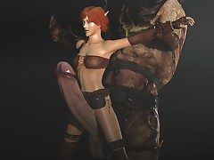 Deliciously sexy elf will not far from big monster cocks deep in Witcher porn