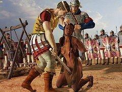 She slumped in her bonds - Queen Zenobia by Quoom