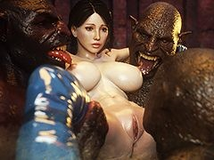 Kinky slut with big boobs and wet cunt - Beast eater 3 by Jared999D