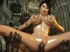 A tight pussy of a beautiful human - Karen and Bulgan the Impaler 2 by Jared999d