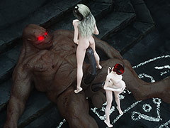 Girls takes creature meat - A difficulty Succubi by Vaesark