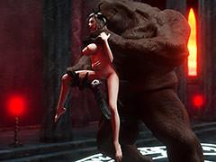 A nasty demon and a crazy prostitute - Sombre Mistress by Vaesark