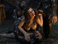 Weird porn - Neanderthal Woman by IronRooRoo